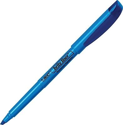 BIC® Brite Liner® Highlighters, Blue, Dozen