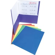Staples®  2-Pocket Folder with Fasteners, Assorted Colors