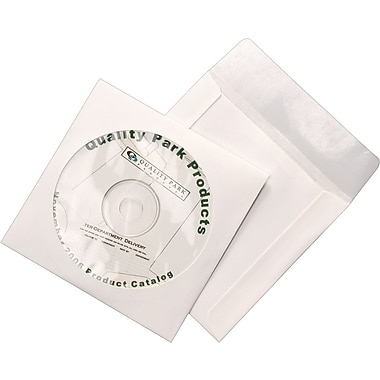 Quality Park Tech-No-Tear CD/DVD Envelopes, 100/Box