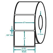 4 x 3 White Permanent Adhesive Thermal Transfer Roll Label