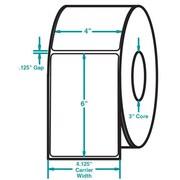 4 x 6 White Permanent Adhesive Thermal Transfer Roll Zebra Compatible Label/Ribbon Kit