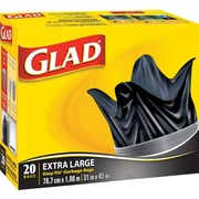 Glad® Garbage Bags, Extra Large, 20/Pack (30200)
