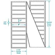 4 x 1 Perfed White Permanent Adhesive Thermal Transfer Fanfold Zebra Compatible Label/Ribbon Kit