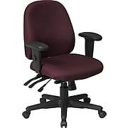 Office Star Ratchet Back Multi Function Fabric Ergonomic Task Chair, Burgundy