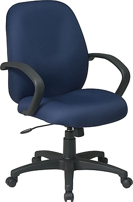 Office Star Fabric Conference Office Chair, Blue, Fixed Arm (EX2651-225)