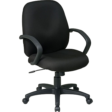 Office Star Fabric Conference Office Chair, Black, Fixed Arm (EX2651-231)