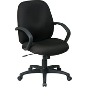 Office Star™ Fabric Conference Office Chair, Black, Fixed Arm (EX2651-231)