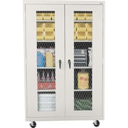 "Sandusky 78""H Mobile Metal Front Cabinet with 5 Shelves, Dove Gray (TA4M462472-05)"