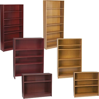 hon series wood laminate bookcase 4shelf harvest - Wooden Bookcases
