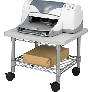 Safco® Under-Desk Printer/Fax Stand, Grey