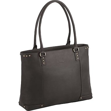 Solo Executive Leather Laptop Carryall, Espresso-Blue Lining (VTA801-3)