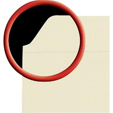 Staples Single Tab Manila File Folders w/ Reinforced Tabs, Letter, 100/Box