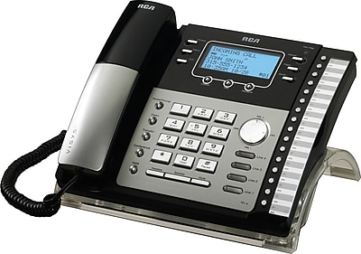 rca 25424re1 4 line integrated telephone system with caller id rh staples com