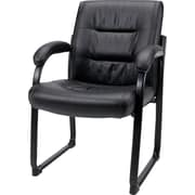 Staples® Bonded-Leather Guest Chair, Black