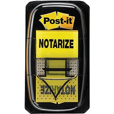 Post-it® 'Notarize' Message Flags, 1