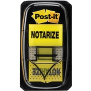 "Post-it® Message Flags,'Notarize', 1"" Wide, Yellow, 50 Flags/Dispenser, 2 Dispensers/Pack (680-NZ2)"