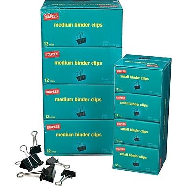 Staples® Metal Binder Clips Bulk Pack, Black