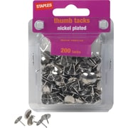 Staples® Nickel Plated Thumb Tacks