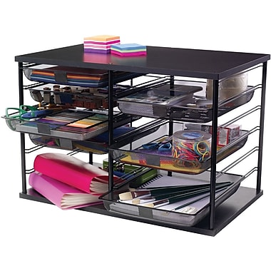 Rubbermaid® Optimizers 12 Slot Organizer with Mesh Drawers, Black