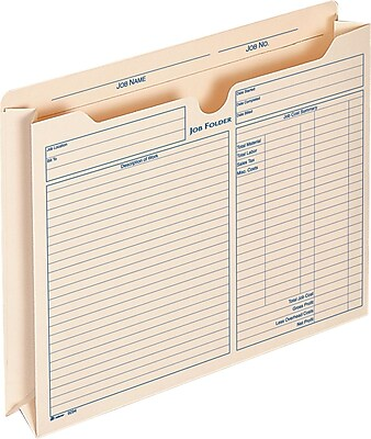 Adams® Expanding Job Folders, 2 Inch Expanding, 9.5 x 11.75 Inches, 15 Per Pack (9294E)