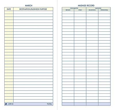 Adams® Vehicle Mileage Record Book, 3-1/4