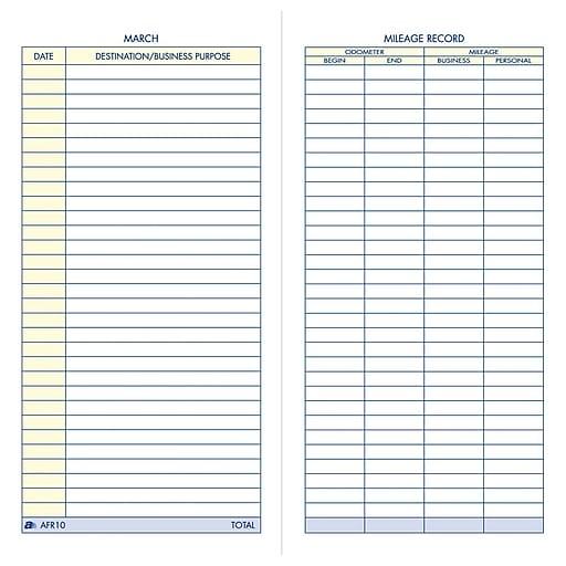 adams vehicle mileage record book 3 1 4 x 6 1 4 staples