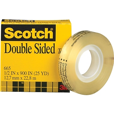 scotch permanent double sided tape staples