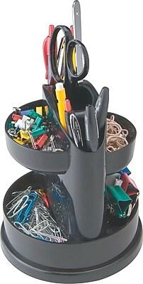 Staples® 7 Compartment Rotating Desk Organizer