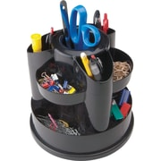 Staples 10604-CC 10 Compartment Rotating Desk Organizer, Black