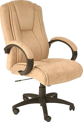 Comfort Products Fabric Executive Office Chair, Adjustable Arms, Beige (60-0971)