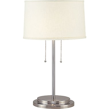 Fangio Dual Light Incandescent/CFL Table Lamp, Brushed Steel