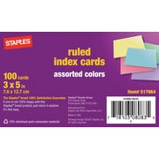 Esselte® 40280 Rainbow Pack Index Card, Assorted
