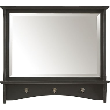 Carolina Cottage Winston Mirror, Antique Black Finish