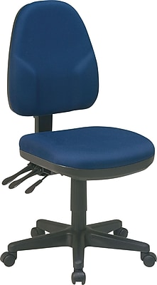 Office Star Fabric Computer and Desk Office Chair, Navy, Armless Arm (36420-225)