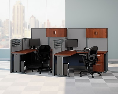 cupboard bush desks office furniture modern cherry