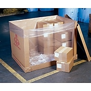 """48""""x46""""x72"""" Pallet Top Covers 4 mil, Clear, 35/Roll (10810)"""