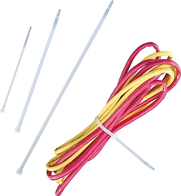 """Staples 14""""L Cable Ties, Heavy Duty (694159)"""