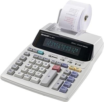 sharp el 1801v printing calculator staples rh staples com