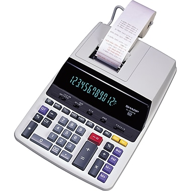 Sharp® - Calculatrice imprimante robuste de table EL2630PIII, 12 chiffres
