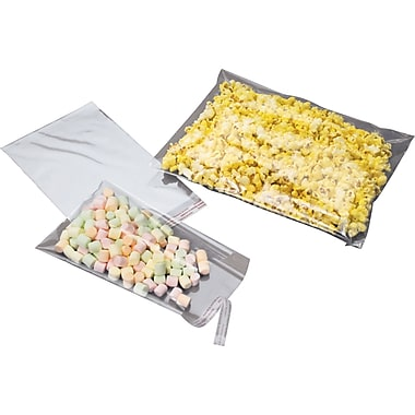 1.2-Mil Polypropylene Bags with Adhesive Lip, 4-1/2