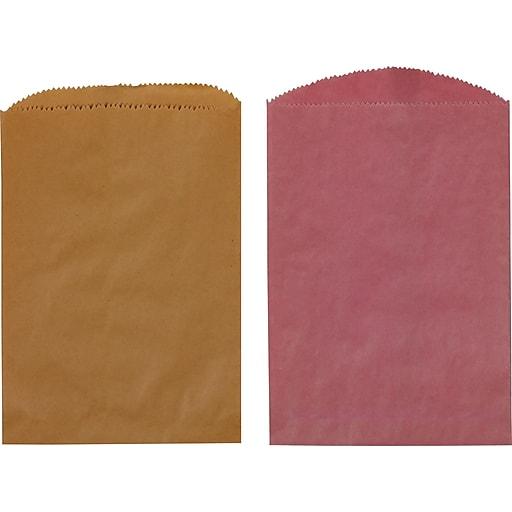 Staples Paper Merchandise Bags Flat 8 1 2 X 11 Kraft 538