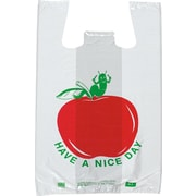 "Staples Pre-Printed T-Shirt Bags ""Have a Nice Day"" Apple, 1000/Case (1701)"