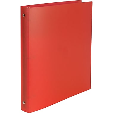 Simply Poly 1-Inch Round 3-Ring Non-View Binder, Red (15149-CC)