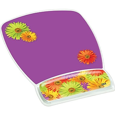 3M™ Designer Gel Mouse Pad with Wrist Rest, Daisy Design