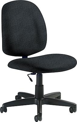 Global Armless Medium Back Task Chair, Black