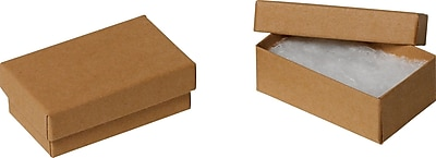 """""Staples Jewlery Boxes 3 1/2"""""""" x 3 1/2"""""""" x 1 1/2"""""""", Kraft 100/case (33D326)"""""" 695681"