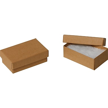 Jewellery Boxes, Kraft, 3-1/16