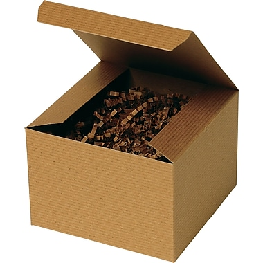 Boîte-cadeau 1 morceau, kraft, 6 po x 6 po x 4 po, 100/paquet
