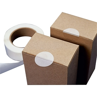 Clear Circular Labels on Roll, 3