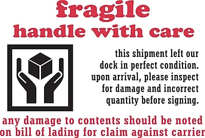 Staples Fragile Handle With Care Label, 04